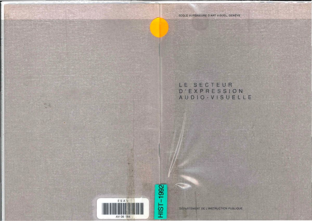 Le secteur d'expression audio-visuelle (1992)