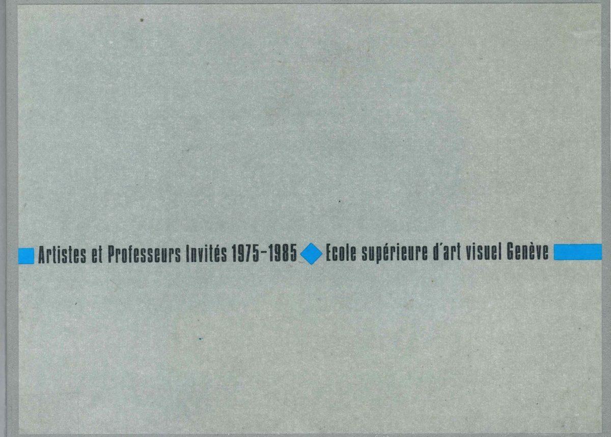 Artistes et professeurs invités 1975-1985
